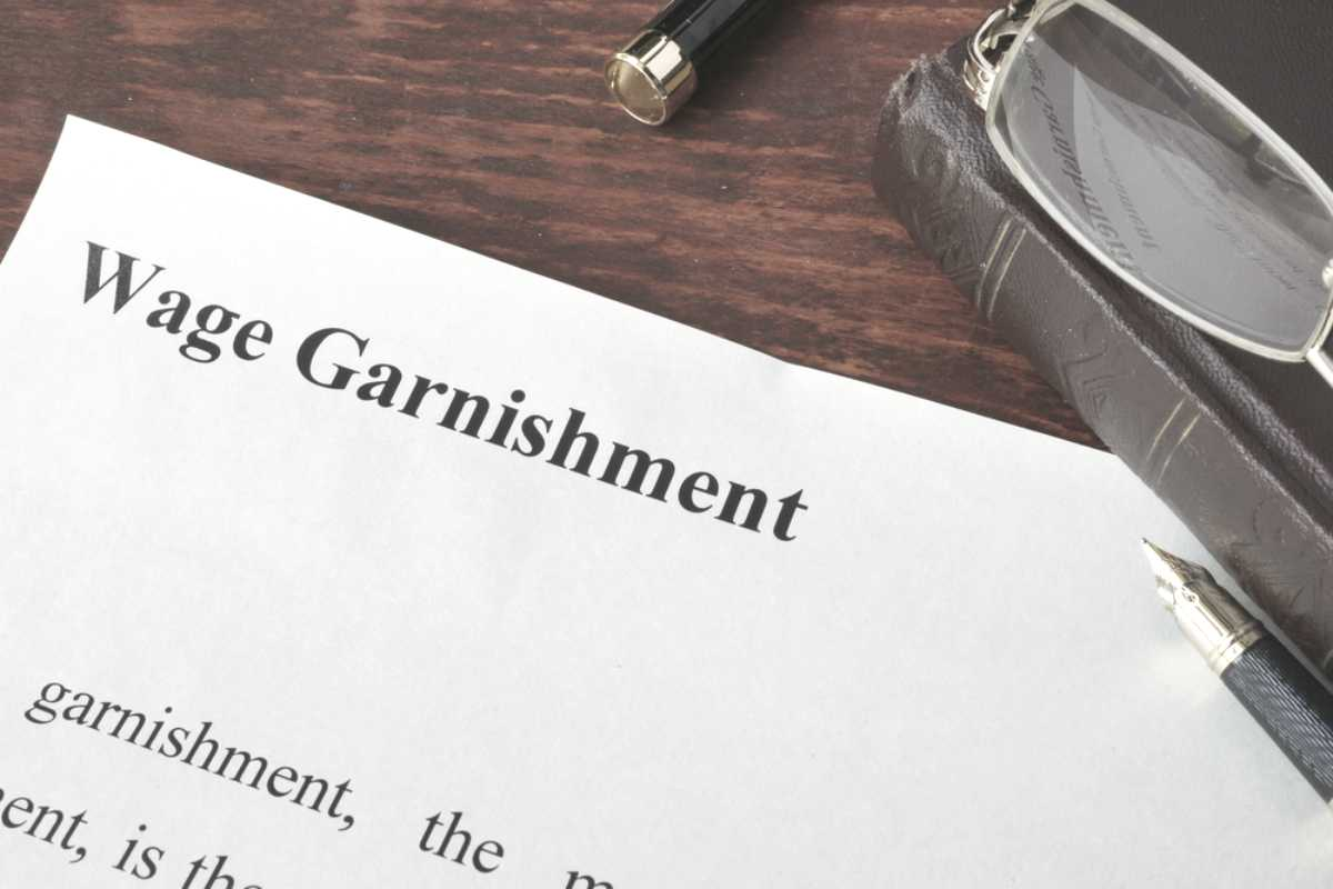 wage garnishment written on paper payment | Things To Consider When Choosing An IRS Payment Plan | irs payment plan