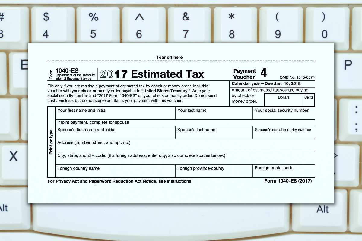 1040-ES form | Self-Employment Tax Guidelines To Remember To Avoid Penalties | self employment tax